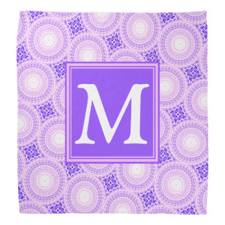 Bandana Motif pourpre de cercles de monogramme