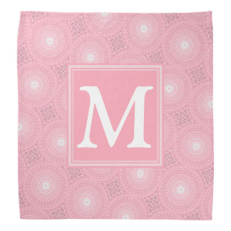 Bandana Motif rose de cercles de monogramme