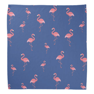 Bandana motif rose de flamants