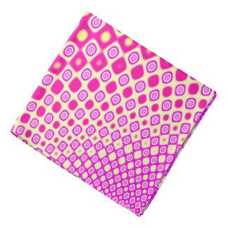Bandana Motif rose et blanc abstrait