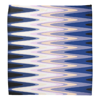 Bandana Motif rose pourpre beige gris blanc bleu de zigzag