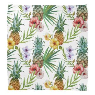 Bandana Motif tropical d'ananas d'aquarelle de thème
