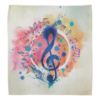Bandana Notes musicales d'amusement et éclaboussure de