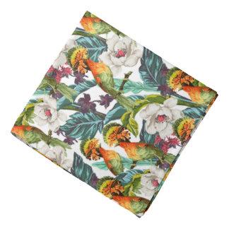 Bandana Oiseau et motif de fleur exotique