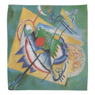 Bandana Ovale rouge de peinture abstraite de Kandinsky