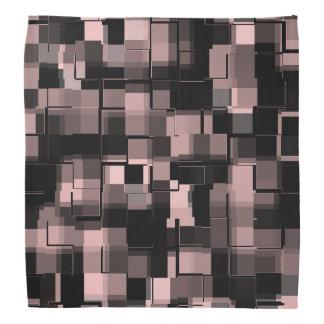 Bandana Pâle à la mode - motif blanc noir rose d'abrégé