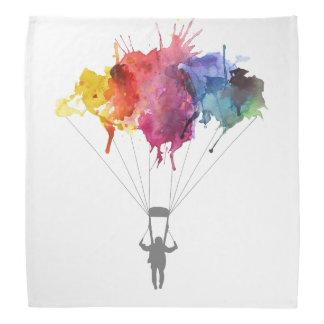 Bandana Parachutiste, parachute. Sport de parachutisme.