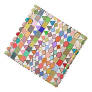 Bandana Pastels géométriques et multi tribaux modernes sur