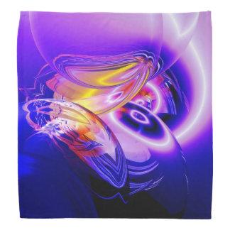 Bandana Peinture abstraite de Digitals de tons bleus