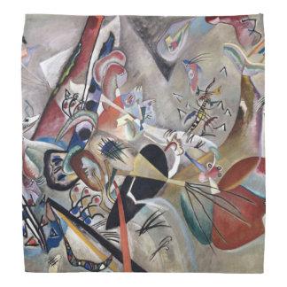 Bandana Peinture abstraite de Kandinsky dans le gris