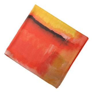 Bandana Peinture rouge d'abrégé sur jaune