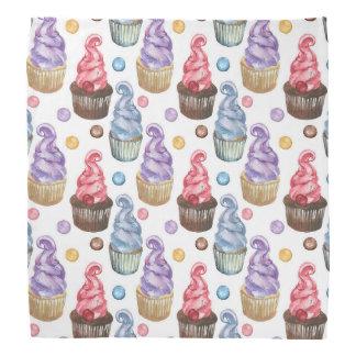 Bandana Petits gâteaux d'aquarelle colorés