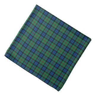 Bandana Plaid bleu, vert, et rouge de tartan de Dundas de