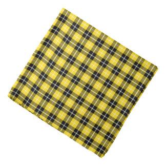 Bandana Plaid jaune et noir de tartan formel de Barclay de