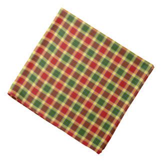 Bandana Plaid rouge, jaune, et vert de tartan de clan de