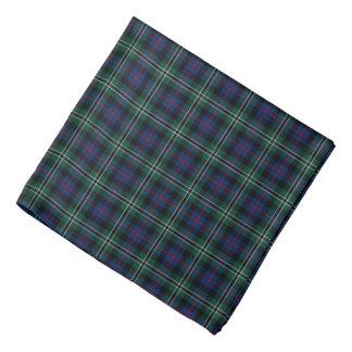 Bandana Plaid vert et bleu de clan de tartan rose de
