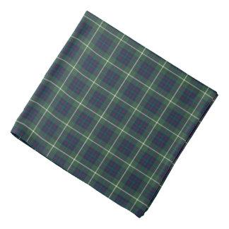 Bandana Plaid vert et bleu de tartan de chasse de clan de