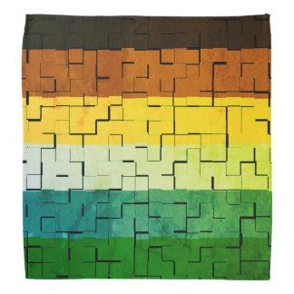 Bandana Rayures abstraites multicolores rustiques