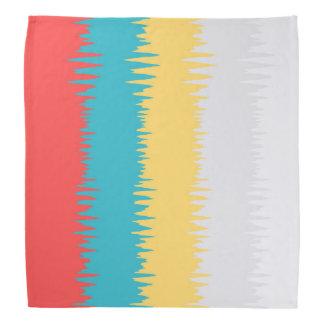 Bandana Rayures blanches de zigzag de jaune de corail