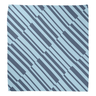 Bandana Rayures bleues terreuses à la mode