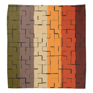 Bandana Rayures de couleur de chute