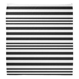 Bandana Rayures noires et blanches X 3