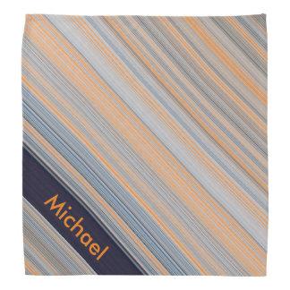 Bandana Rayures personnalisées - bleu et orange