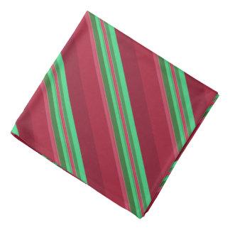 Bandana Rayures rouges et vertes chiques