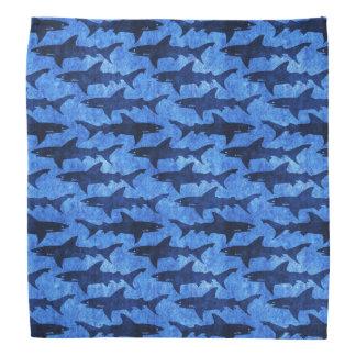 Bandana Requins bleus pour des cowboys, des bandits et des