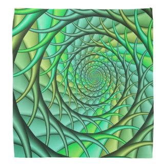 Bandana se développant en spirales vert de racines