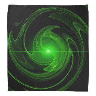 Bandana Spirale noire et verte