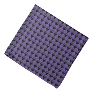 Bandana Symbole noir de volume sur le pourpre ultra-violet