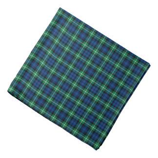 Bandana Tartan bleu et vert lumineux de Lamont de clan