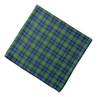 Bandana Tartan de bleu royal et de vert de famille de