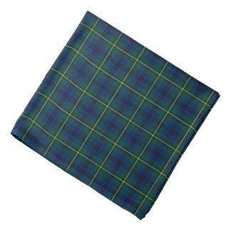 Bandana Tartan de vert de Johnston de clan, bleu et jaune