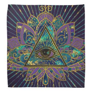 Bandana Tout l'oeil mystique voyant en fleur de Lotus