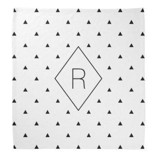 Bandana Triangles géométriques blanches noires élégantes