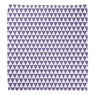 Bandana Triangles géométriques pourpres blanches et