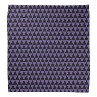 Bandana Triangles géométriques pourpres noires et