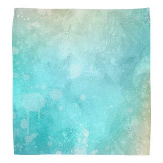 Bandana turquoise de la grunge | d'aquarelle