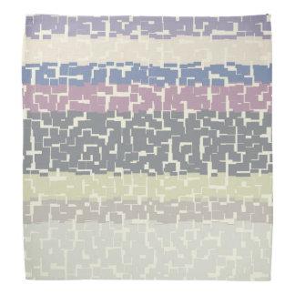 Bandana Vert/gris multicolore/beige/rose/pourpre/bleu