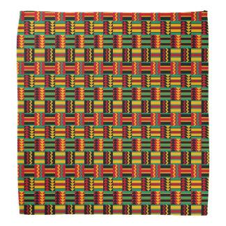 Bandana Vert jaune rouge de fierté africaine abstraite
