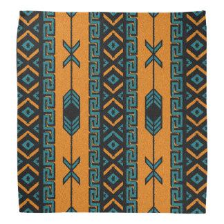 Bandanna aztèque tribale de motif d'orange et de bandana