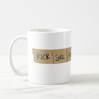 Bande de conseil sain de batteur mug