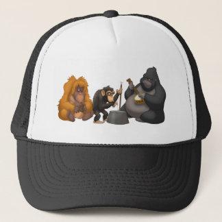 Bande de cruche du casquette de singes