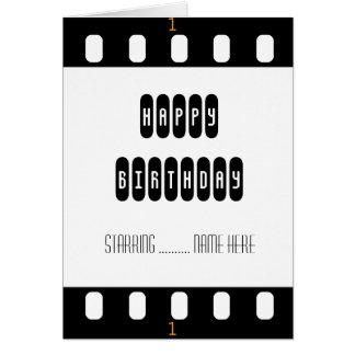 Bande de film de star de cinéma avec la carte