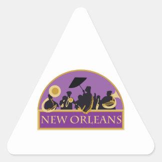 Bande de la Nouvelle-Orléans Sticker Triangulaire