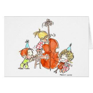 Bande de l'anniversaire BD-005 Carte De Vœux