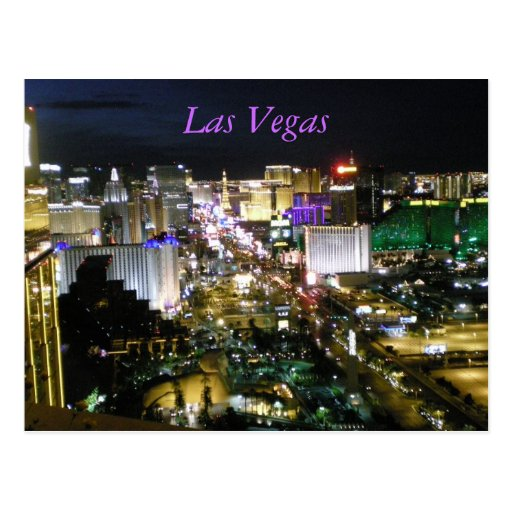 Bande de Las Vegas Boulevard Carte Postale