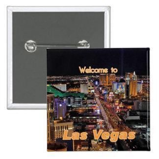 Bande de Las Vegas la nuit Badge Carré 5 Cm